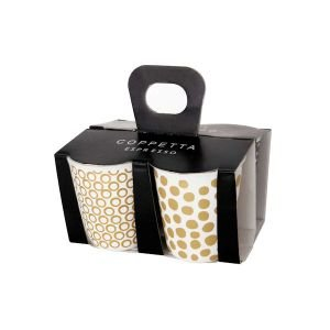 "ASA Selection ""xmas"" 4er Set Espresso Becher 3 Gold"