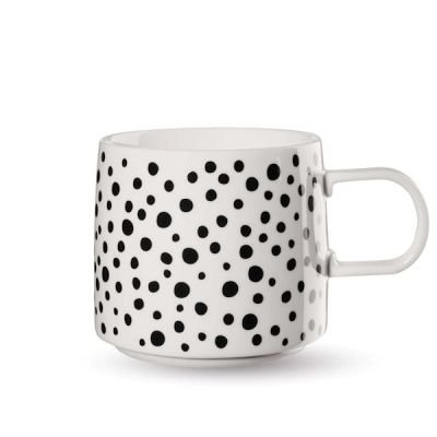 "ASA Selection ""muga mugs"" Henkelbecher dotty weiss / schwarz"