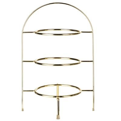 "ASA Selection ""à table"" Teller-Etagere 3-stufig für Dessertteller gold"