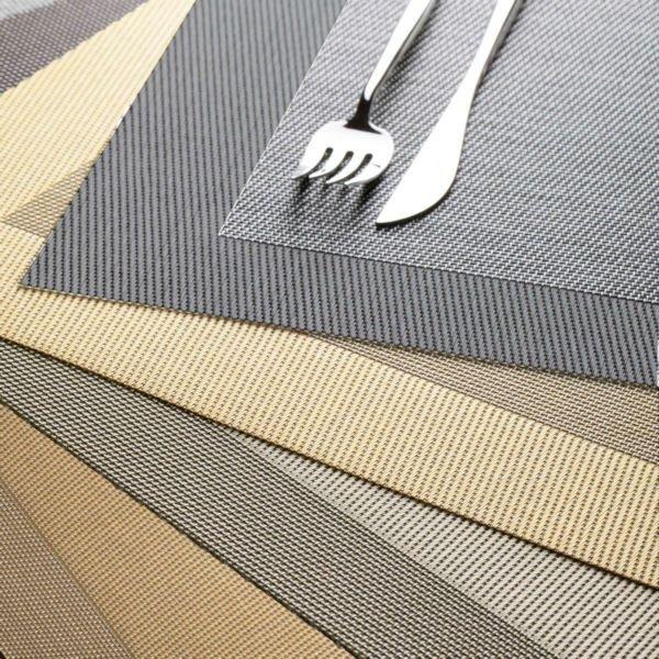 table tops tischset grau asa selection. Black Bedroom Furniture Sets. Home Design Ideas