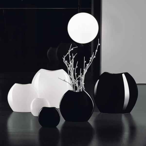 moon vase 32 cm schwarz asa selection. Black Bedroom Furniture Sets. Home Design Ideas