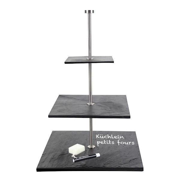 memo gro e schiefer etagere mit kreidestift asa selection. Black Bedroom Furniture Sets. Home Design Ideas